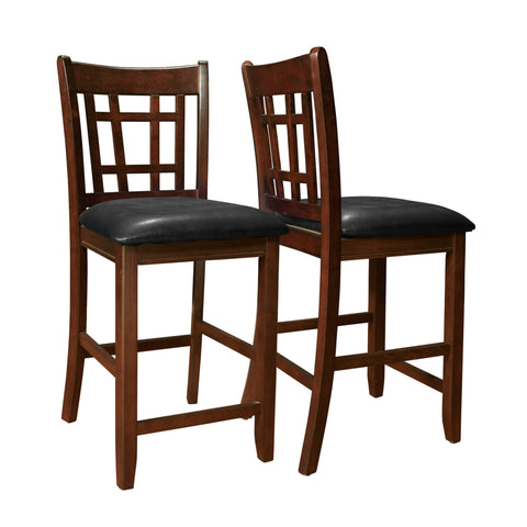 "Monarch Specialties I 1156 Dining Chair - 2Pcs / 41""H / Cappuccino / Black Seat 021032220167"