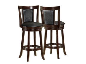 "Monarch Specialties I 1287 Barstool - 2Pcs / 43""H / Swivel / Cappuccino Bar Height 021032257484"