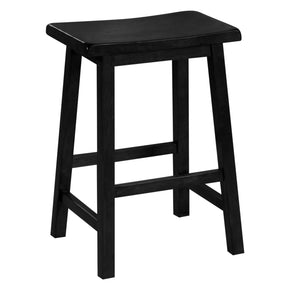 "Monarch Specialties I 1531 Barstool - 2Pcs / 24""H / Black Saddle Seat 021032227432"