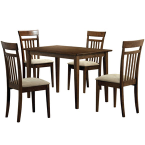 Monarch Specialties I 1720 Dining Set - 5Pcs Set / Walnut Finish 021032170950