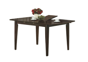 "Monarch Specialties I 1897 Dining Table - 36""X 48"" X 60"" / Cappuccino With A Leaf  021032207281"