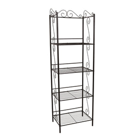 "Monarch Specialties I 2103 Bookcase - 70""H / Copper Metal Etagere 878218005465"