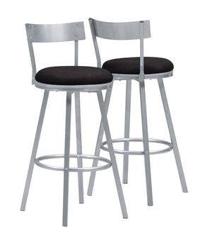 "Monarch Specialties I 2332 Barstool - 2Pcs / 43""H / Swivel / Silver Metal  021032245399"