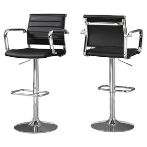 Bar Chairs - Monarch Specialties I 2373 Barstool - 2Pcs / Black / Chrome Metal Hydraulic Lift | 680796012397 | Only $249.80. Buy today at http://www.contemporaryfurniturewarehouse.com