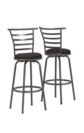 "Monarch Specialties I 2396 Barstool - 2Pcs / 43""H / Swivel / Silver Grey Metal  021032207960"