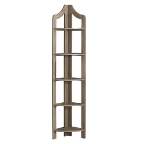 "Monarch Specialties I 2418 Bookcase - 72""H / Dark Taupe Corner Accent Etagere 680796013240"