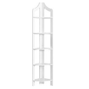 "Monarch Specialties I 2419 Bookcase - 72""H / White Corner Accent Etagere 680796013257"