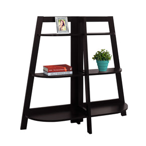 "Monarch Specialties I 2426 Bookcase - 48""H / Cappuccino Accent Etagere 878218009616"