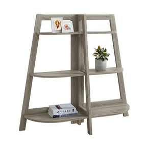 "Monarch Specialties I 2428 Bookcase - 48""H / Dark Taupe Accent Etagere 878218009630"