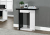 "Accent Table - 32""L / Glossy White / Black Hall Console"