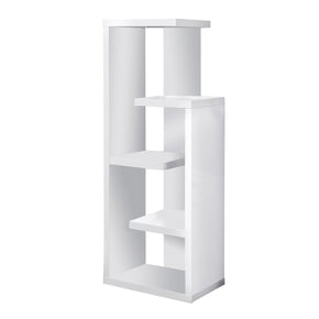 "Monarch Specialties I 2466 Bookcase - 48""H / White Accent Display Unit 878218000453"