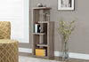 "Bookcase - 48""H / Dark Taupe Accent Display Unit"
