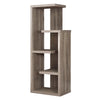 "Monarch Specialties I 2467 Bookcase - 48""H / Dark Taupe Accent Display Unit 878218000460"