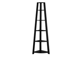 "Monarch Specialties I 2499 Bookcase - 72""H / Black Corner Accent Etagere 878218007346"