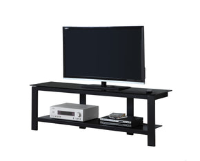 "Monarch Specialties I 2500 Tv Stand - 60""L / Black Metal With Black Tempered Glass 878218005540"