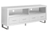 "Monarch Specialties I 2518 Tv Stand - 60""L / White With 4 Drawers 878218000712"