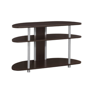 "Monarch Specialties I 2523 Tv Stand - 38""L / Cappuccino With Silver Accent 878218006332"