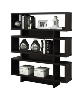 "Monarch Specialties I 2531 Bookcase - 55""H / Cappuccino Modern Style 021032258375"