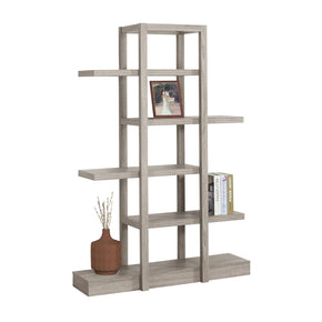 "Monarch Specialties I 2539 Bookcase - 71""H / Dark Taupe Open Concept Display Etagere 878218007469"