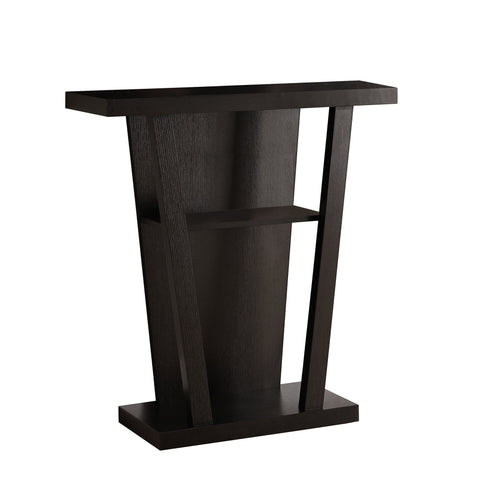 "Monarch Specialties I 2540 Accent Table - 32""L / Cappuccino Hall Console 021032261023"