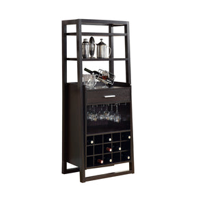"Monarch Specialties I 2543 Home Bar - 60""H / Cappuccino Ladder Style 021032261054"