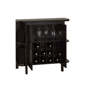 "Monarch Specialties I 2545 Home Bar - 36""H / Cappuccino With Bottle / Glass Storage 021032261078"