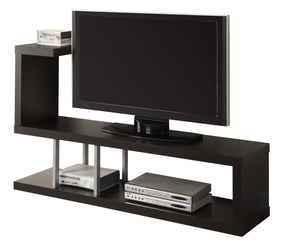 "Monarch Specialties I 2550 Tv Stand - 60""L / Cappuccino  021032289423"