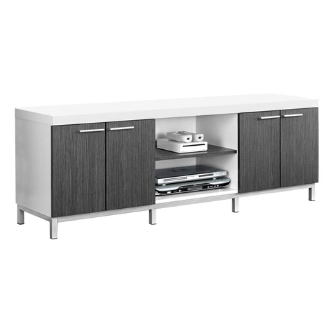 "Monarch Specialties I 2591 Tv Stand - 60""L / White / Grey  878218000897"