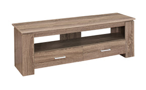 "Monarch Specialties I 2602 Tv Stand - 48""L / Dark Taupe With 2 Storage Drawers 680796001575"