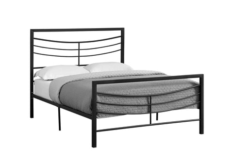 Monarch Specialties I 2641F Bed - Full Size / Black Metal Frame Only 680796009885