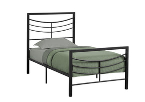 Monarch Specialties I 2641T Bed - Twin Size / Black Metal Frame Only 680796009854