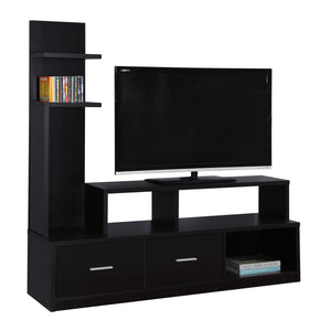 "Monarch Specialties I 2695 Tv Stand - 60""L / Cappuccino With A Display Tower 878218008435"
