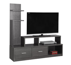 "Monarch Specialties I 2698 Tv Stand - 60""L / Grey With A Display Tower 878218008466"