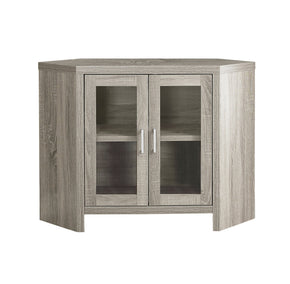 "Monarch Specialties I 2701 Tv Stand - 42""L / Dark Taupe Corner With Glass Doors 878218009678"