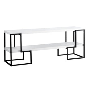 "Monarch Specialties I 2731 Tv Stand - 60""L / White / Black Metal 680796012878"