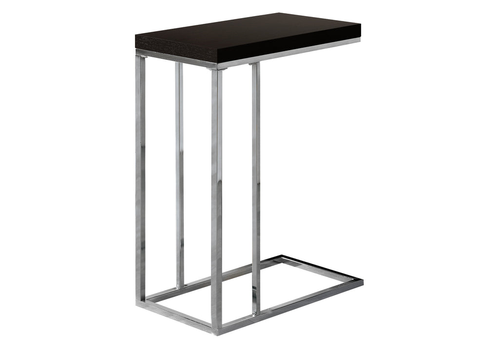 Monarch Specialties I 3007 Accent Table - Cappuccino With Chrome Metal 021032258474