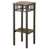 Accent Table - Cappuccino Marble / Bronze Metal