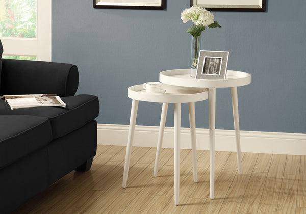 Nesting Table - 2Pcs Set / White