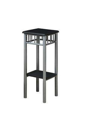 Monarch Specialties I 3094 Accent Table - Black / Silver Metal  021032258221