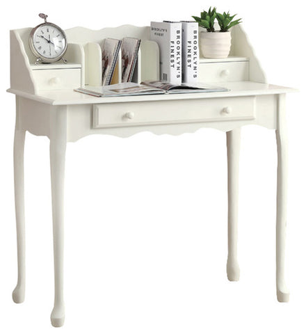 "Monarch Specialties I 3103 Desk - 36""L / Antique White Traditional  021032284855"