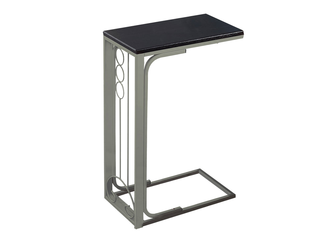 Monarch Specialties I 3135 Accent Table - Cappuccino Top / Champagne Metal  878218002907
