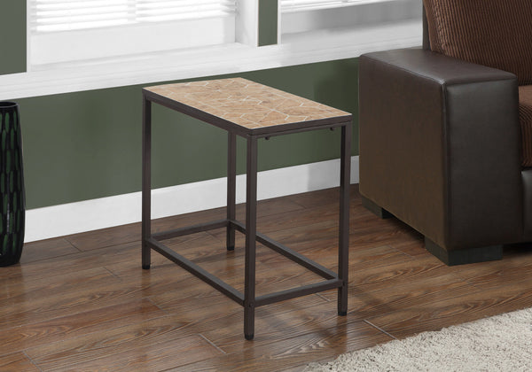 Accent Table - Terracotta Tile Top / Hammered Brown