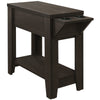 "Monarch Specialties I 3197 Accent Table - 24""H / Cappuccino With A Glass Holder 680796014438"