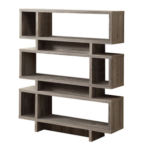 "Monarch Specialties I 3251 Bookcase - 55""H / Dark Taupe Modern Style 021032287726"