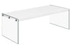 Coffee Tables - Monarch Specialties I 3286 Coffee Table - Glossy White With Tempered Glass | 878218001085 | Only $159.80. Buy today at http://www.contemporaryfurniturewarehouse.com