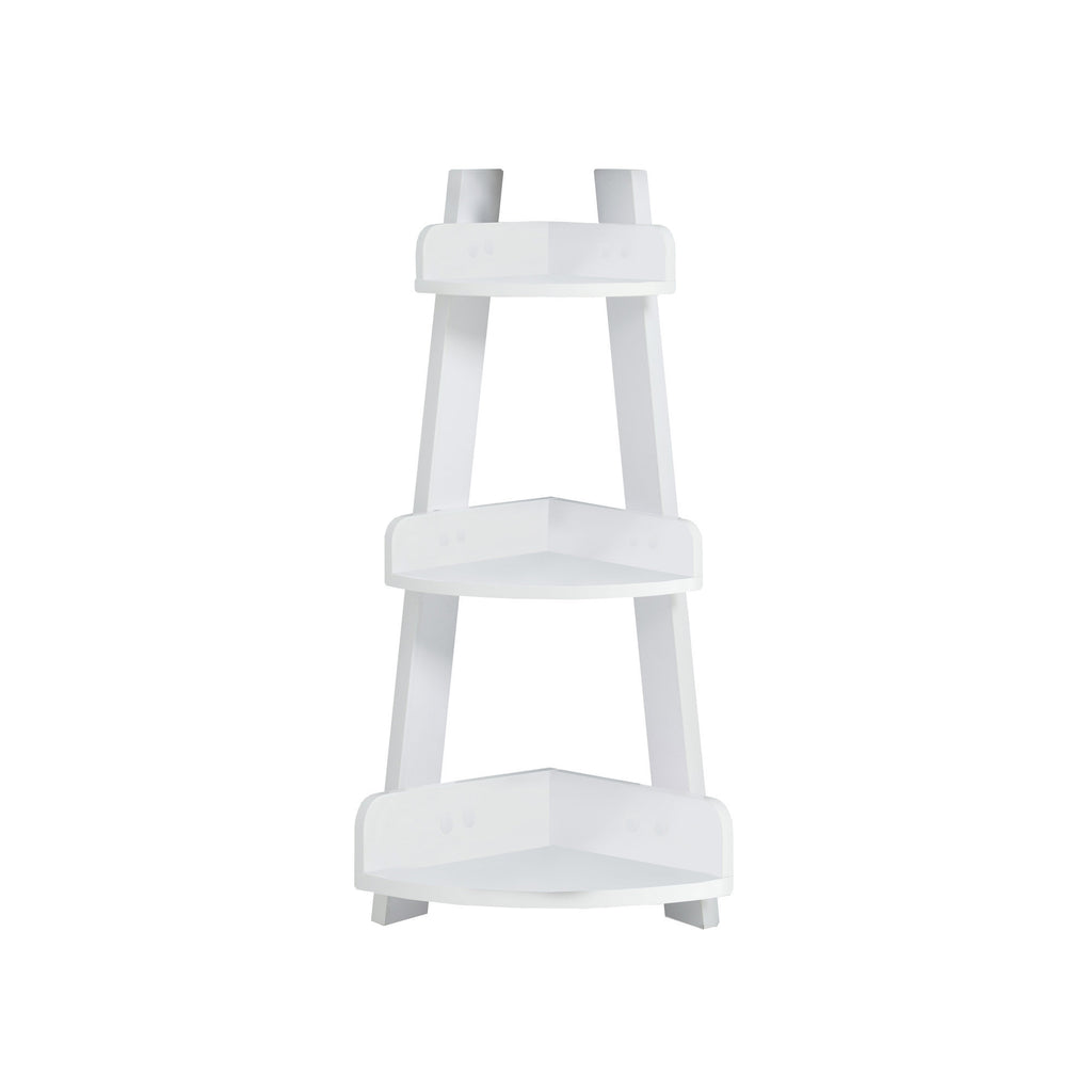 "Monarch Specialties I 3438 Bathroom Accent - 34""H / White Corner Etagere 878218003775"