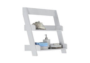 "Monarch Specialties I 3439 Bathroom Accent - 24""H / White Wall Mount Shelf 878218003751"