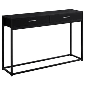 "Monarch Specialties I 3512 Accent Table - 48""L / Black / Black Metal Hall Console 680796015039"
