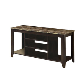 "Monarch Specialties I 3525 Tv Stand - 48""L / Cappuccino / Marble Top  021032263027"