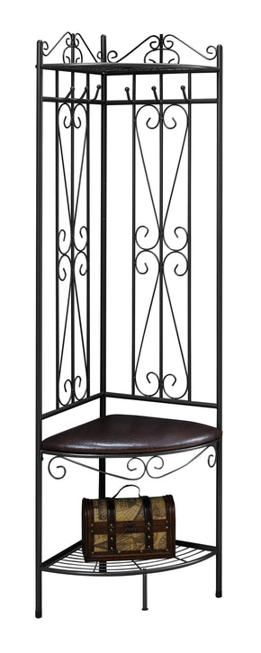 "Monarch Specialties I 4548 Bench - 72""H / Copper Metal Corner Hall Entry 680796000585"